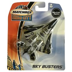 2003 Matchbox Fighter Jet MB40000 Plane Hero City Sky Busters Die-Cast Airplane New in Box Mattel