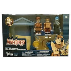 Disney Adventurers Hercules, Hades and Phi Figurines Mega Minis Action Pack Exclusive Retired New in Box