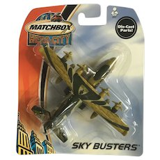 2003 Matchbox Transport Plane Hero City Sky Busters Die-Cast Airplane New in Box Mattel