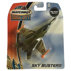 2003 Matchbox Attack Jet Plane Hero City Sky Busters Die-Cast Airplane New in Box Mattel