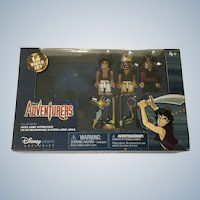 Disney Adventurers Aladdin, Jafar and Rasoul Figurines Mega Minis Action Pack Exclusive Retired New in Box
