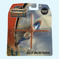 2003 Matchbox Herocopter Helicopter Test Team Hero City Sky Busters Die-Cast Airplane New in Box Mattel