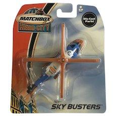 2003 Matchbox Herocopter Helicopter Die-Cast Airplane NIB Mattel