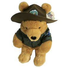 Winnie the Pooh Bear Stuffed Plush Park Ranger Wilderness Disney New with Tags 15""