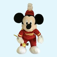 Mickey Mouse Stuffed Plush Marching Band Disney Store Exclusive