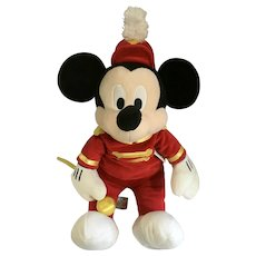 Mickey Mouse Stuffed Plush Clubhouse Marching Band Leader Disney Store Exclusive 20""