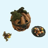 Trinket Box Pumpkin Jack O' Lantern Candy Corn McNibble Boyds Bear Friends