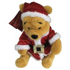 "Christmas Winnie the Pooh Bear Stuffed Plush Santa Helpers Holiday Pooh Disney New 12"""