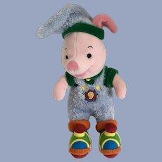 Piglet Winnie the Pooh Stuffed Plush Christmas Elf Disney Store Exclusive