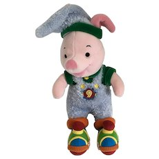 """Winnie the Pooh Piglet Stuffed Plush Christmas Elf Tin Soldier North Pole Express Disney Store Exclusive New 14"""""""