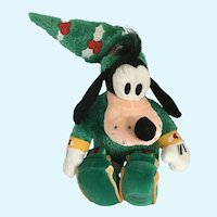 Elf Goofy Stuffed Plush Christmas Elf Disney Store Exclusive