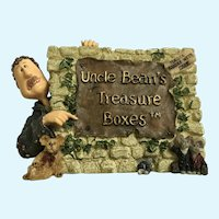 Uncle Bean McNibble Sign Treasured Memories Boyds Bear and Friends