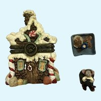 Trinket Box Sugar Chalet with Pudge McNibble Boyds Bear and Friends