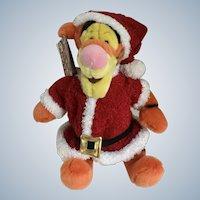 "Tigger Santa Stuffed Plush Christmas Holiday Disney Store Exclusive New 12"""