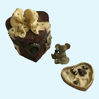 Trinket Box Valentino's Candy Box & BonBon McNibble Boyds Bear and Friends