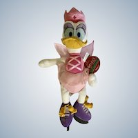2005 Daisy Duck Twice Upon a Christmas Ice Skating Stuffed Plush Animal Disney Store Exclusive Retired NWT