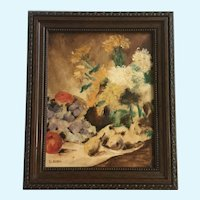 B Laving, Table Still Life Oil Painting Signed by Artist