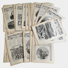 1963 Harper's Weekly Journal, 1863 Civil War Reissued Reprint Newspapers 6 months 26 Issues
