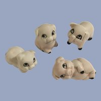 Pink Pigs Hogs Party Bone China Miniatures Animal Figurines