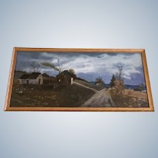 A. M. McKinsey, Twilight Man in Cart Coming Home in Rural Landscape Oil Painting Signed by Artist