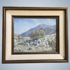 Gloria Mae Smith, Plein Air Desert Landscape Oil Painting Signed by California Artist