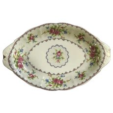 Royal Albert Petit Point Relish Dish Bone China Made in England