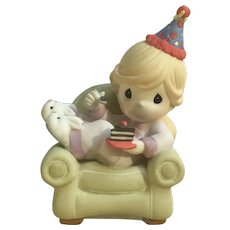 It's Your Birthday, Cake It Easy 930022 Girl in Chair Porcelain Figurine 2009 Retired