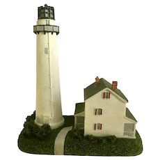 Lighthouse Fenwick Island Delaware Figurine, Geo. Z. Lefton's Historic American CCM13660 New