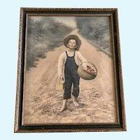 Rudolf Eickemeyer, Jr. (1862-1932), The Whistling Boy Framed Photo Print 1901