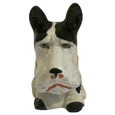 Scottie Dog 'Piggy' Bank 1930's Circa Made in Japan Ceramic Figurine Souvenir of Portland, ME