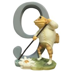 Enesco Mr. Jeremy Fisher Frog Number 9 Birthday Cake Topper Figurine 2006 A6222
