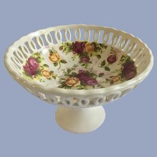 Royal Albert Old Country Roses Pierced Compote Candy Dish