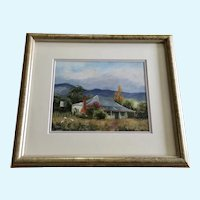 Carmel Busfield, Australian Home Tumut NSW Plein Air Landscape Oil Painting