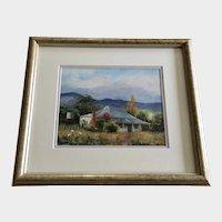 Carmel Busfield, Australian Home Tumut NSW Plein Air Landscape Oil Painting