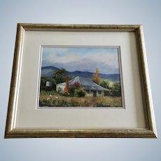 Carmel Busfield, Australian Home Tumut NSW Plein Air Landscape Oil painting Signed by Australia Artist