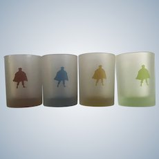 Official Captain Morgan Rum Frosted Rock Collectable Highball Bar Glasses