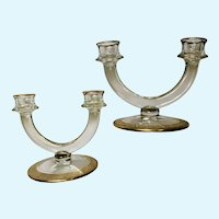 Double Candlestick Holders Rambler Rose 1125 Gold By Glastonbury - Lotus