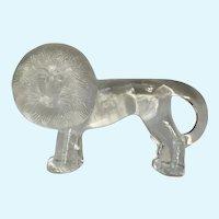 """Art Glass Lion Kosta Boda Swedish Paperweight by Artist Bertil Vallien 10"""""""