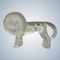 "Art Glass Lion Kosta Boda Swedish Paperweight Zoo Series Designed by Renowned Artist Bertil Vallien 10"" Size"