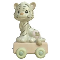 Precious Moments 16th Birthday White Tiger Fine Figurine 2003 #116948