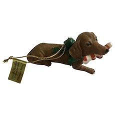 Danbury Mint Delightful Dachshunds Christmas Dinner Tree Ornament