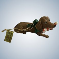 Danbury Mint Delightful Dachshunds Christmas Dinner Tree Ornament