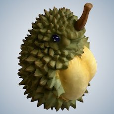 Home Grown Durian Fruit Hedgehog Collectible Figurine by Enesco 4008123 2007 Retired