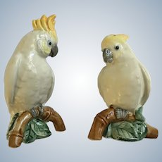 Rain Forest by Fitz and Floyd Cockatoo Salt and Pepper Set 1986 Discontinued