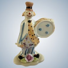 Royal Lux Clown Figurine Fine Hand Painted Porcelain Made in Italy Roylallux