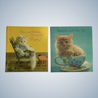 1970's Sunbeam Library American Greetings Cat Miniature Books Unused Birthday