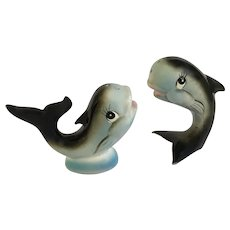Kelvin's Whale Salt & Pepper Shakers S&P Made in Japan