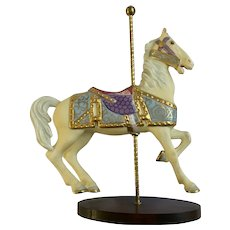 Franklin Mint Limited Treasury of Carousel Art #2 Horse Animal Porcelain Figurine 1989