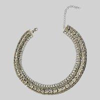 Gorgeous Choker Necklace Rhinestone Faux Diamonds