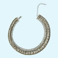 Gorgeous Choker Necklace Rhinestone Faux Diamonds